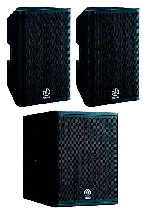 Yamaha 2000W : DXR12 X2 + DXS15 X1 2000W RMS
