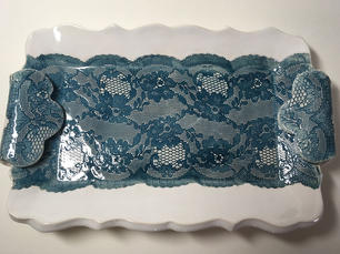 Small 'Lace' Platter (top view)