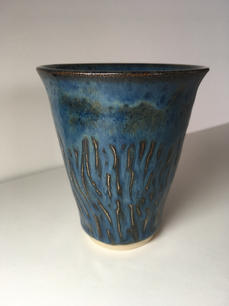 'Carved' Coffee Beaker (side view)