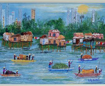 Sarah Sollom, Off To Market - Mekong Del
