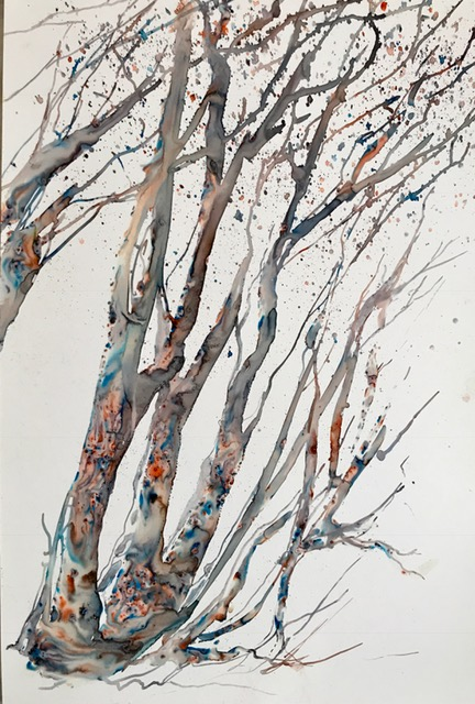 Sheila Karran, Wind Blowing Through the Birches