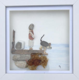 Doggie Paddle (Framed View)