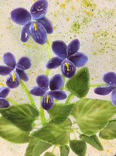 Wood Violets (detail)