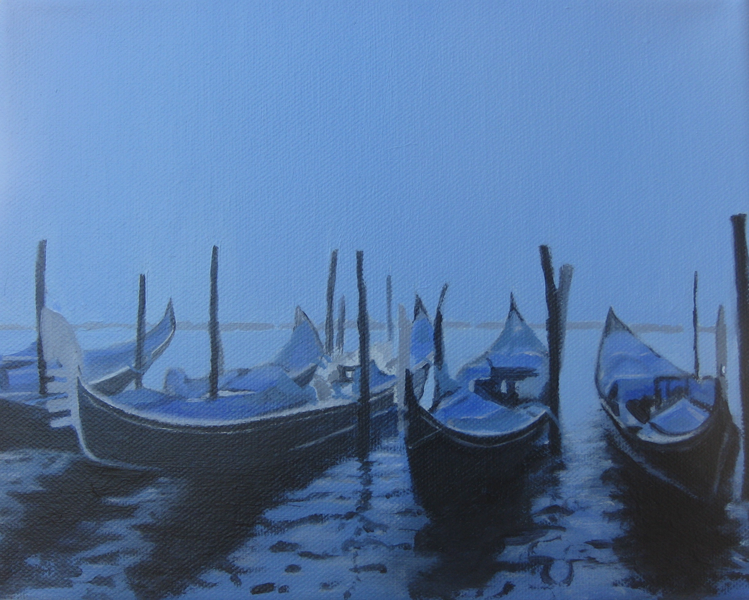 Venice at Dawn in Oil 2012.JPG