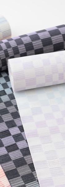 桐生織 八寸名古屋帯 絹50%・和紙50%