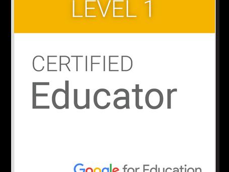 Google認定教育者レベル1再認定に合格しました