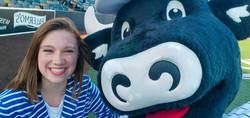 Catelyn Picco and Bo Vine, 2021 Milwaukee Milkmen National Anthem