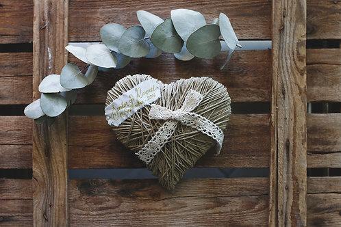 Porta Alianzas Corazón cordón pulido