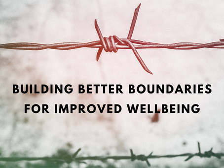 Building better boundaries for improved wellbeing