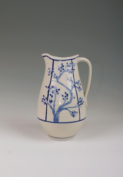Large Cherry Blossom Pitcher (Sold)