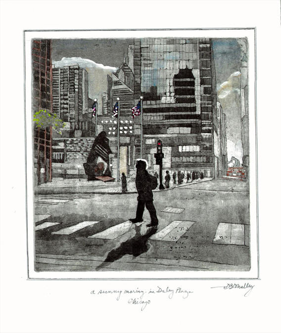 A Sunny Morning in Daley Plaza - Dennis O'Malley