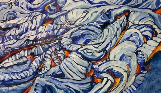 Pahoehoe Lava Mural l