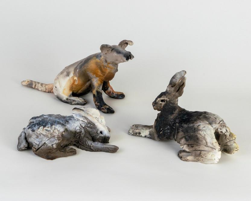 Bonnie Katz - Three Ceramic Animals