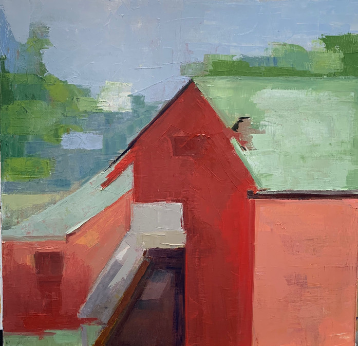 Two Red Barns - Lucie Philips