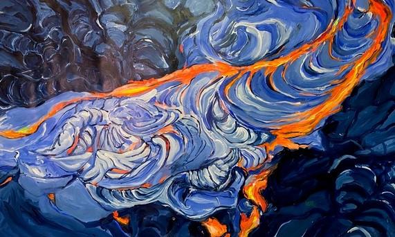 Pahoehoe Lava Mural ll
