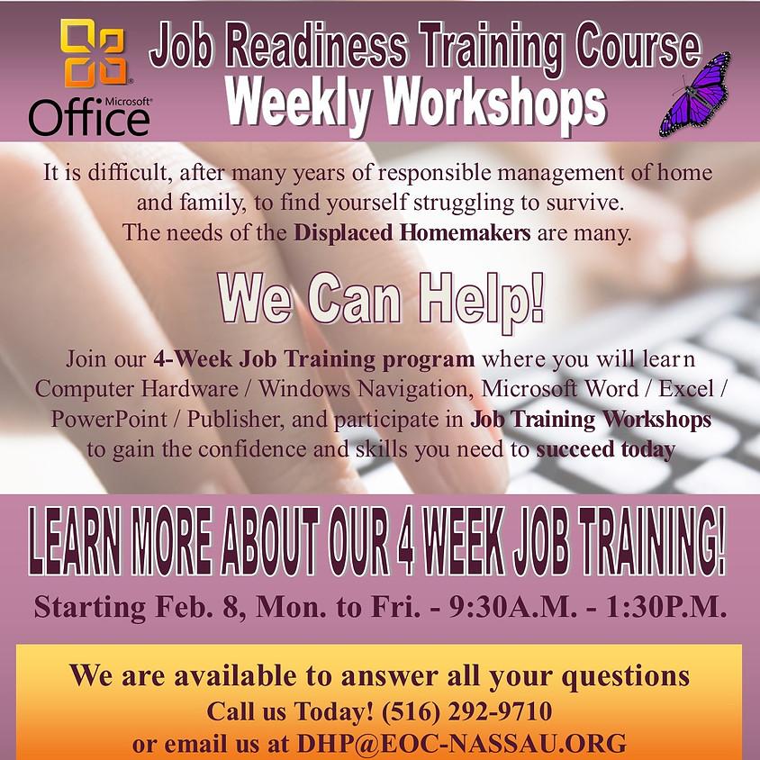 DHP Cycle 2 | 4-Week Job Readiness Training 9:30AM-1:30PM