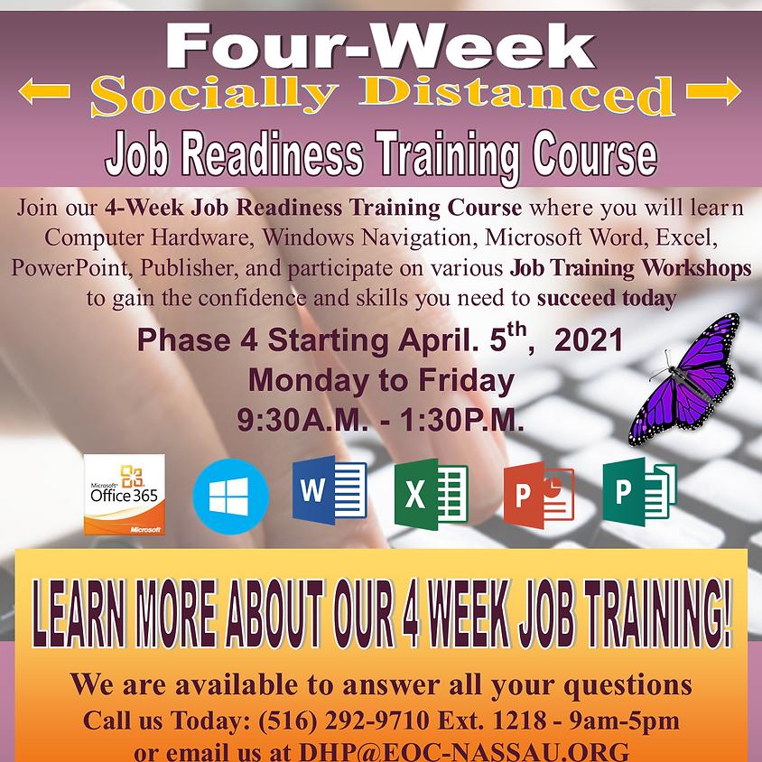 DHP Cycle 4   4-Week Job Readiness Training 9:30AM-1:30PM
