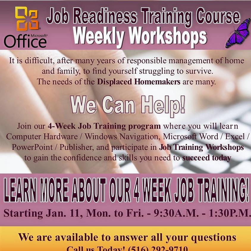 DHP Cycle 1   4-Week Job Readiness Training 9:30AM-1:30PM