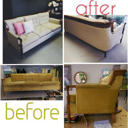 The Bradley Sofa!! All fixed up and looking stylish! Xoxo _harmonyellie _coachlarsen3 _buscham _quil