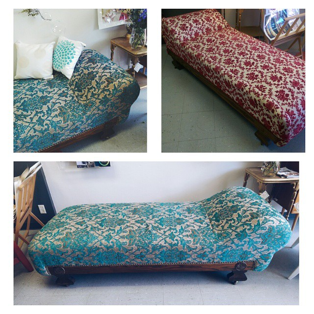 Before and after!!! Rosie chaise lounge is looking classy with a total make over!! Check out more ph