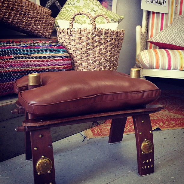 Camel seat in leather for Kathy!! Love it