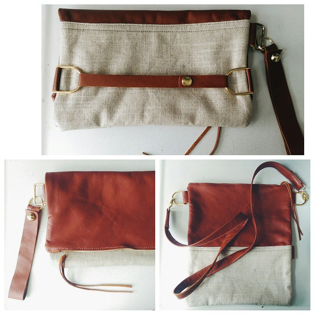 Special order leather and linen bag for Nicole! Love it! Xoxo