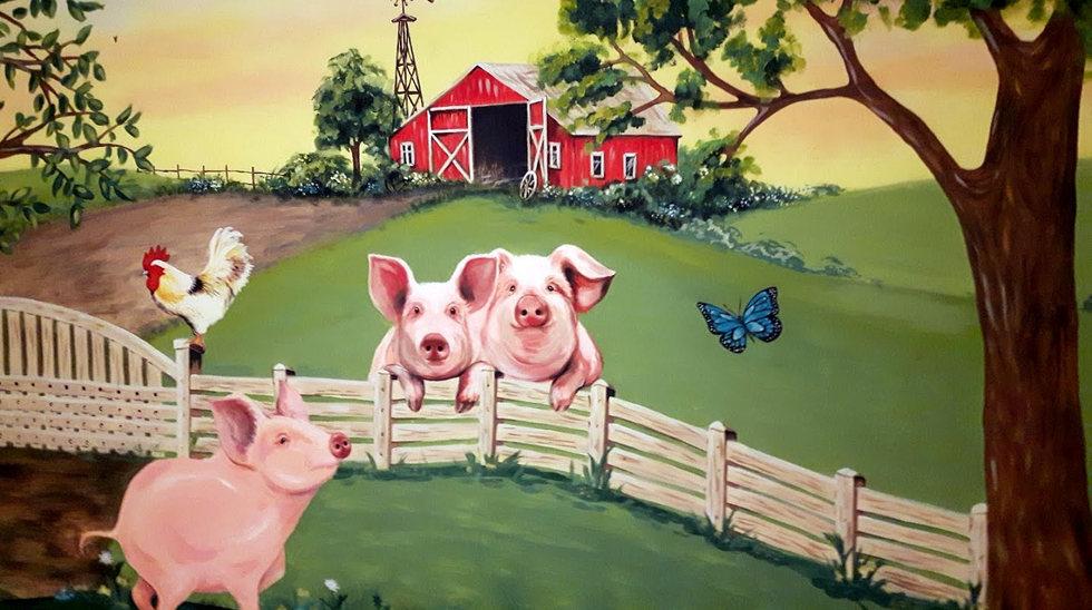 Mural for kids bedroom