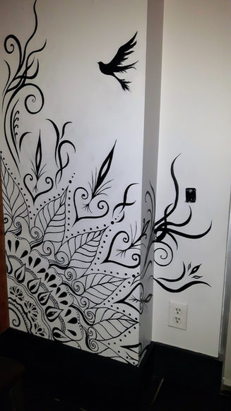 Mural for indian restaurant