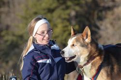 Pause durant la cani-rando à Brion