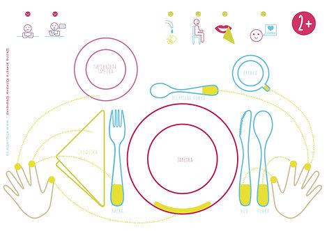 Салфетка со схемой сервировки для детей 2+ (PDF)