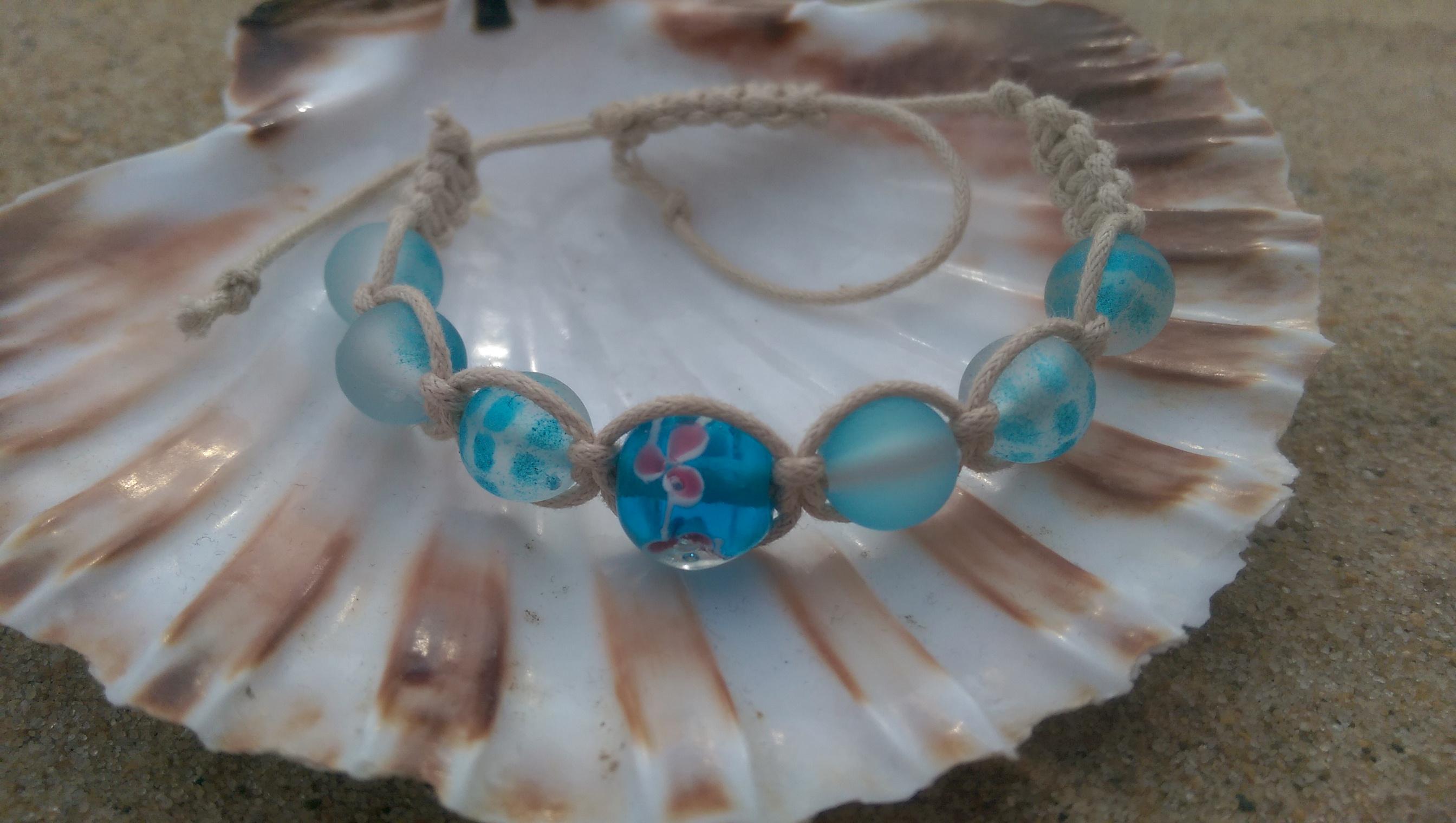 Turquoise shamballa-style bracelet