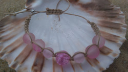 Pink shamballa-style bracelet