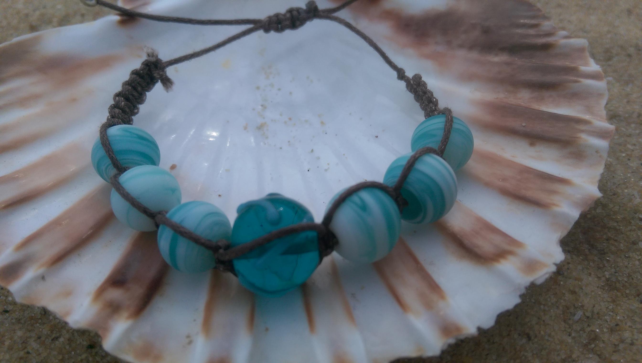 Turquoise beaded shamballa style