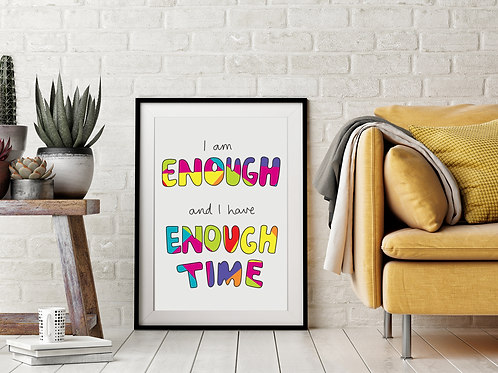 'I Am Enough' Print