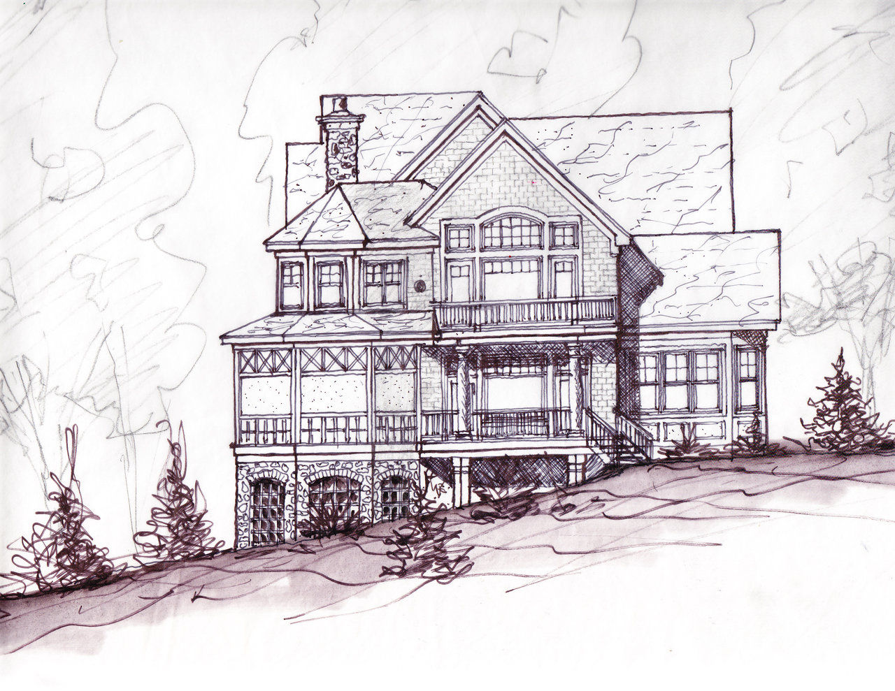 Floor Plan And Perspective Design Directive Residential Design Sample Sketches
