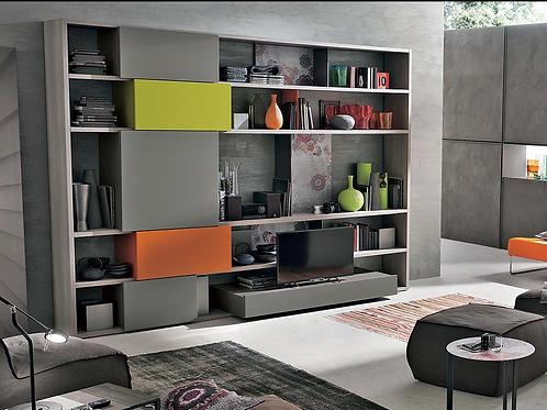 Modern Italian Bookshelf Unit