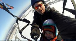 полет на параплане с ребенком