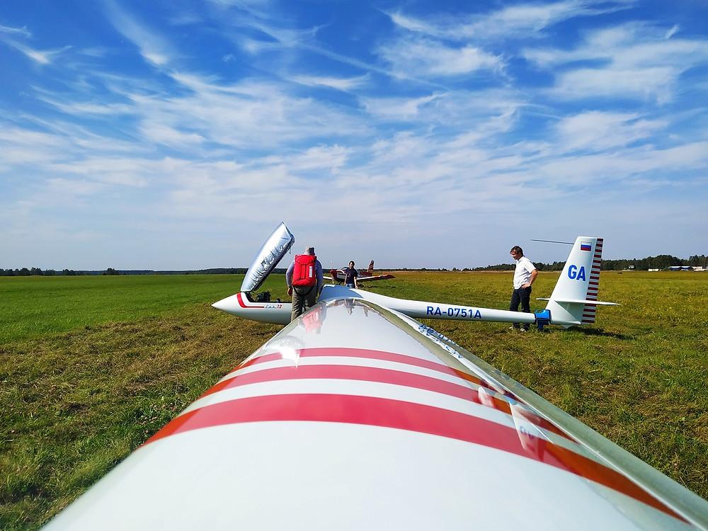 Полёт на планере с инструткором в Московской области