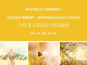 Réouverture de votre cabinet de sophrologie à Puilboreau !