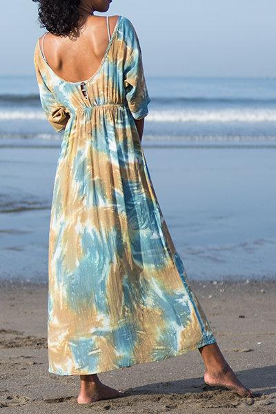 Roof top dolman sleeve dress
