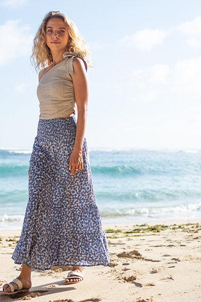 Asaki mermaid 2way long skirt