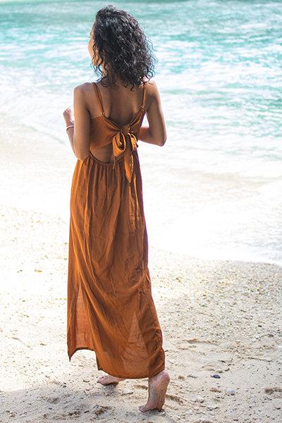 Saki back ribbon dress