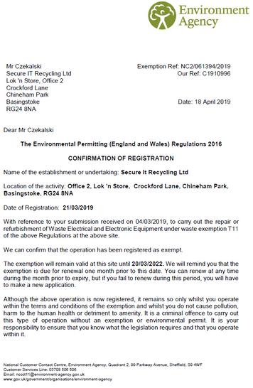 T11 Exemption