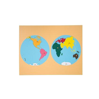 Continent Jigsaw Map