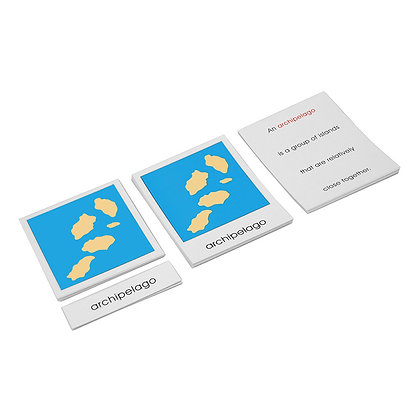 Land & water forms cards