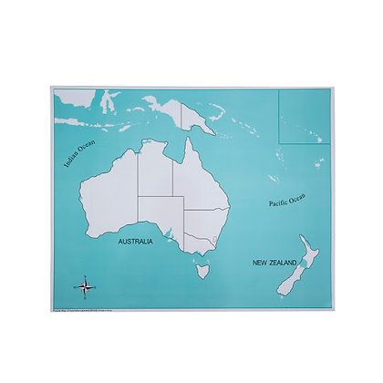 Unlabeled Australia Control Map