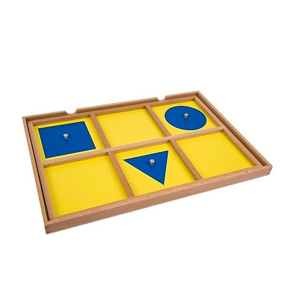 Geometric demonstration tray & cards