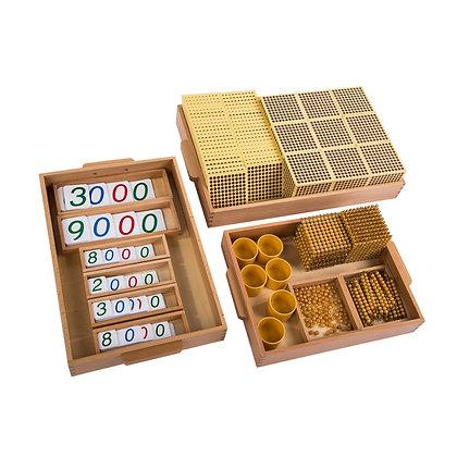 Golden bead set