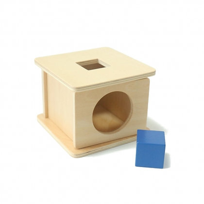Imbucare box with cube prism