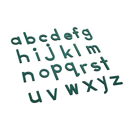 Green moveable alphabets